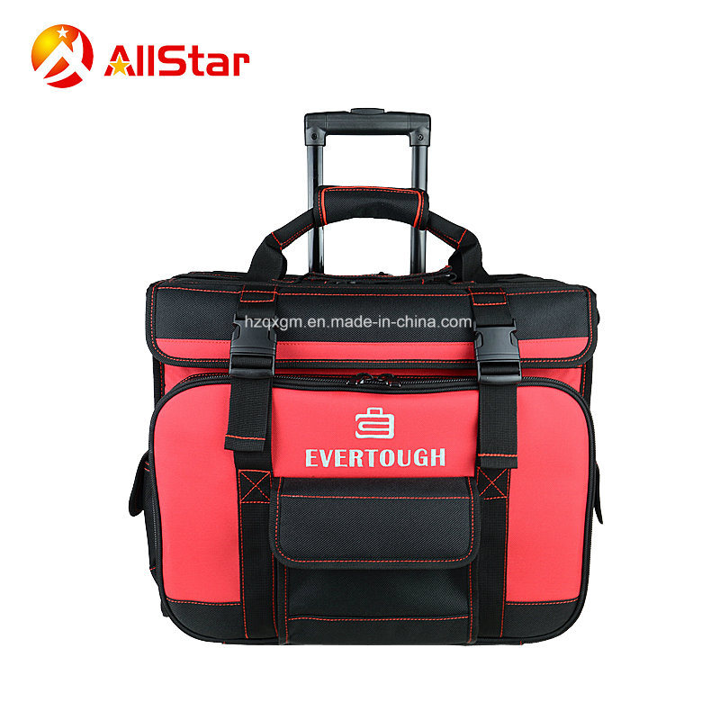 Hot Item Heavy Duty Electrician Tool Bag Trolley Rolling With Wheels