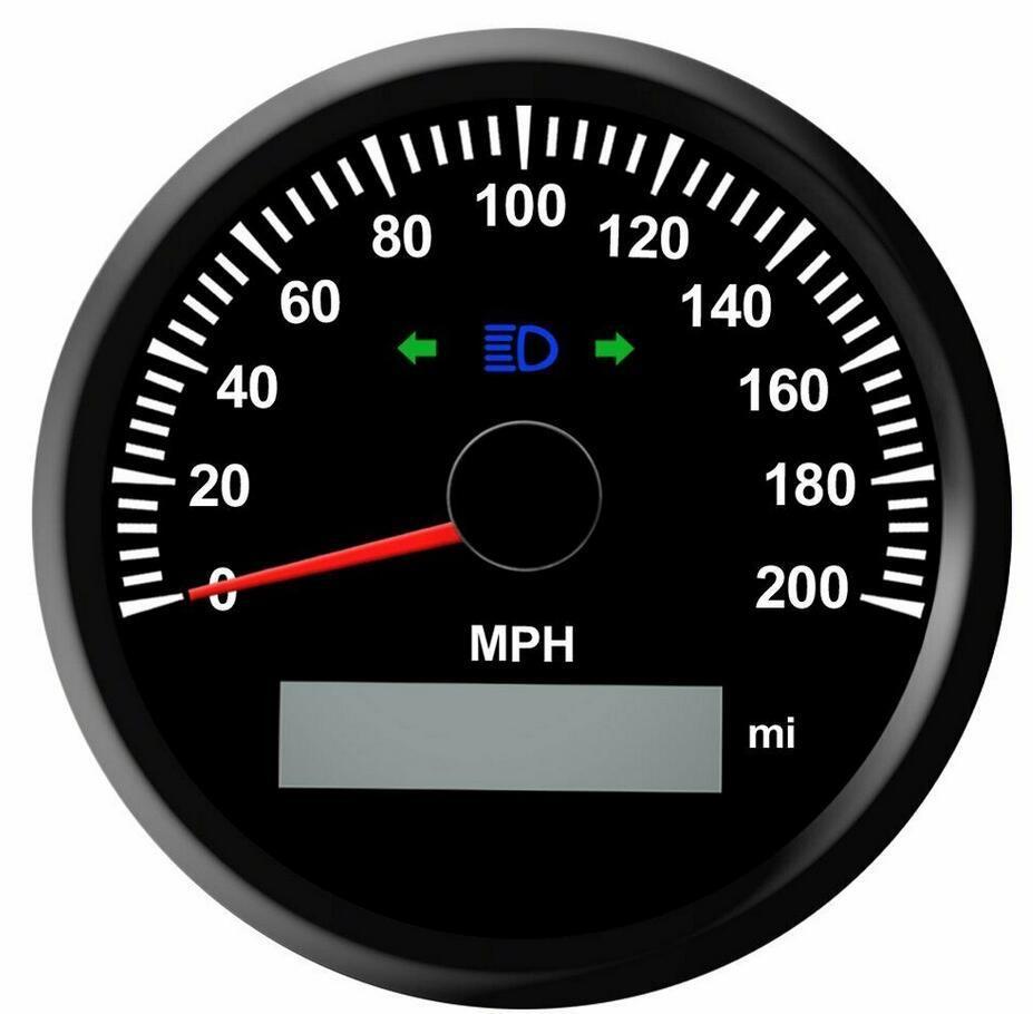 [Hot Item] 85mm Digital GPS Speedometer Gauge Waterproof Auto Car Truck  Marine Odometer