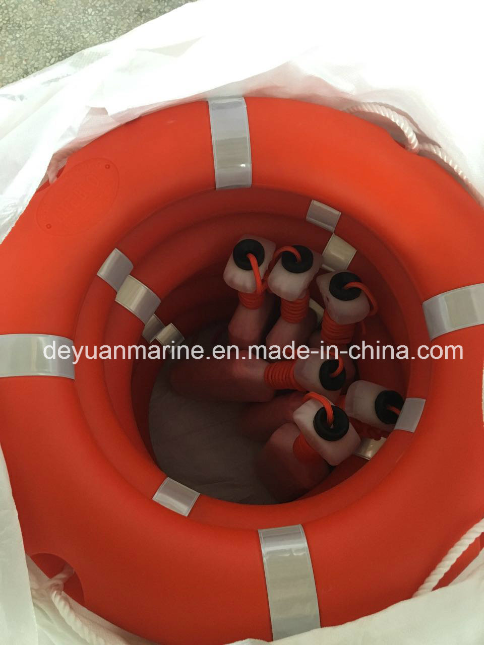 Solas Standard 2.5kg and 4.3kg Lifebuoy Ring with Lifeline and Bracket and Buoyant Smoke Signal and Selfigniting Light