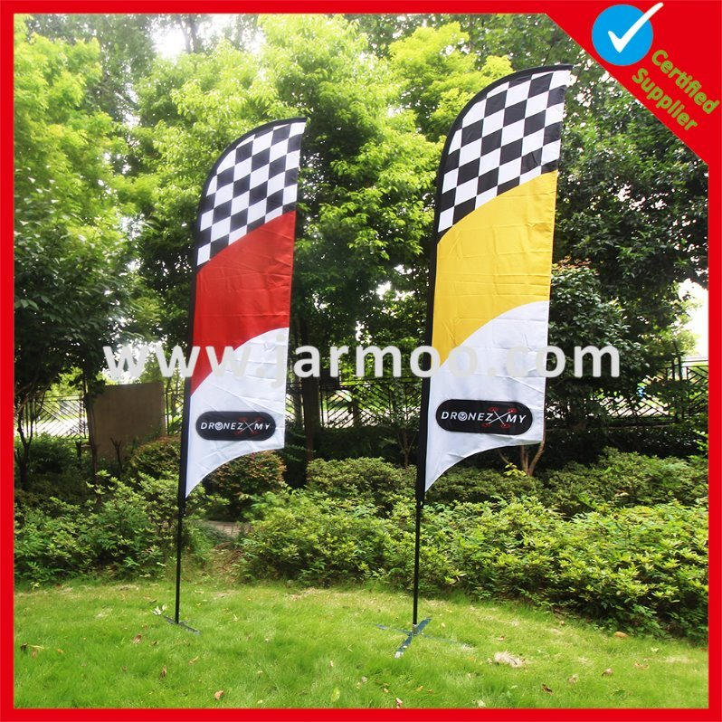 Custom Promotion Advertising Printing Teardrop Feather Flying Beach Flag pictures & photos