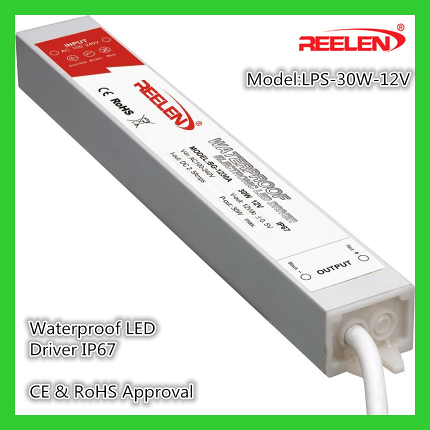 [Hot Item] 12V 2 5A 30W Waterproof IP67 Constant Voltage LED Driver  Lps-30-12