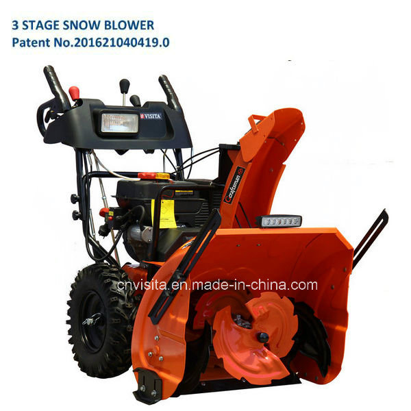 "11HP 28"" Working Width 3 Stage Snow Blower with LED Light Bar pictures & photos"