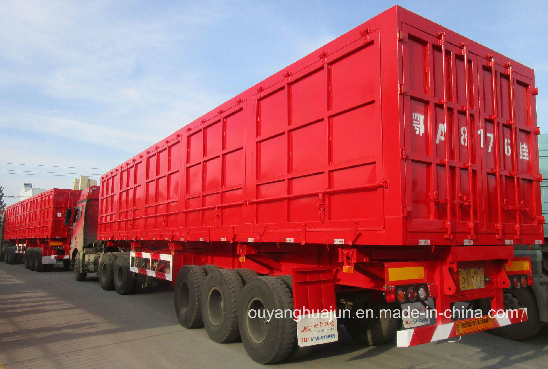 Plate Form Type Side Tipper Semitrailer