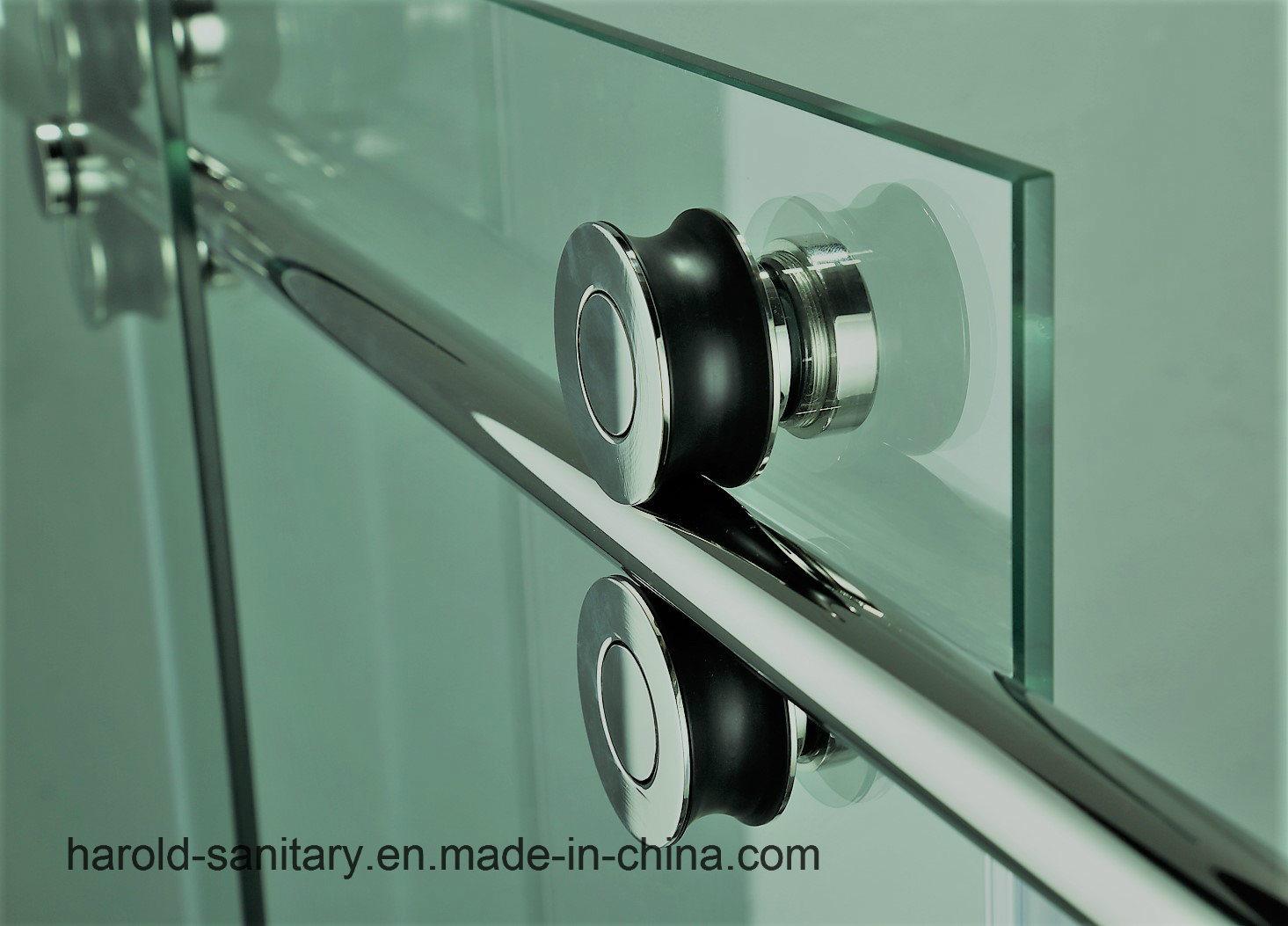 China Luxury Frameless Roller Sliding Glass Shower Door