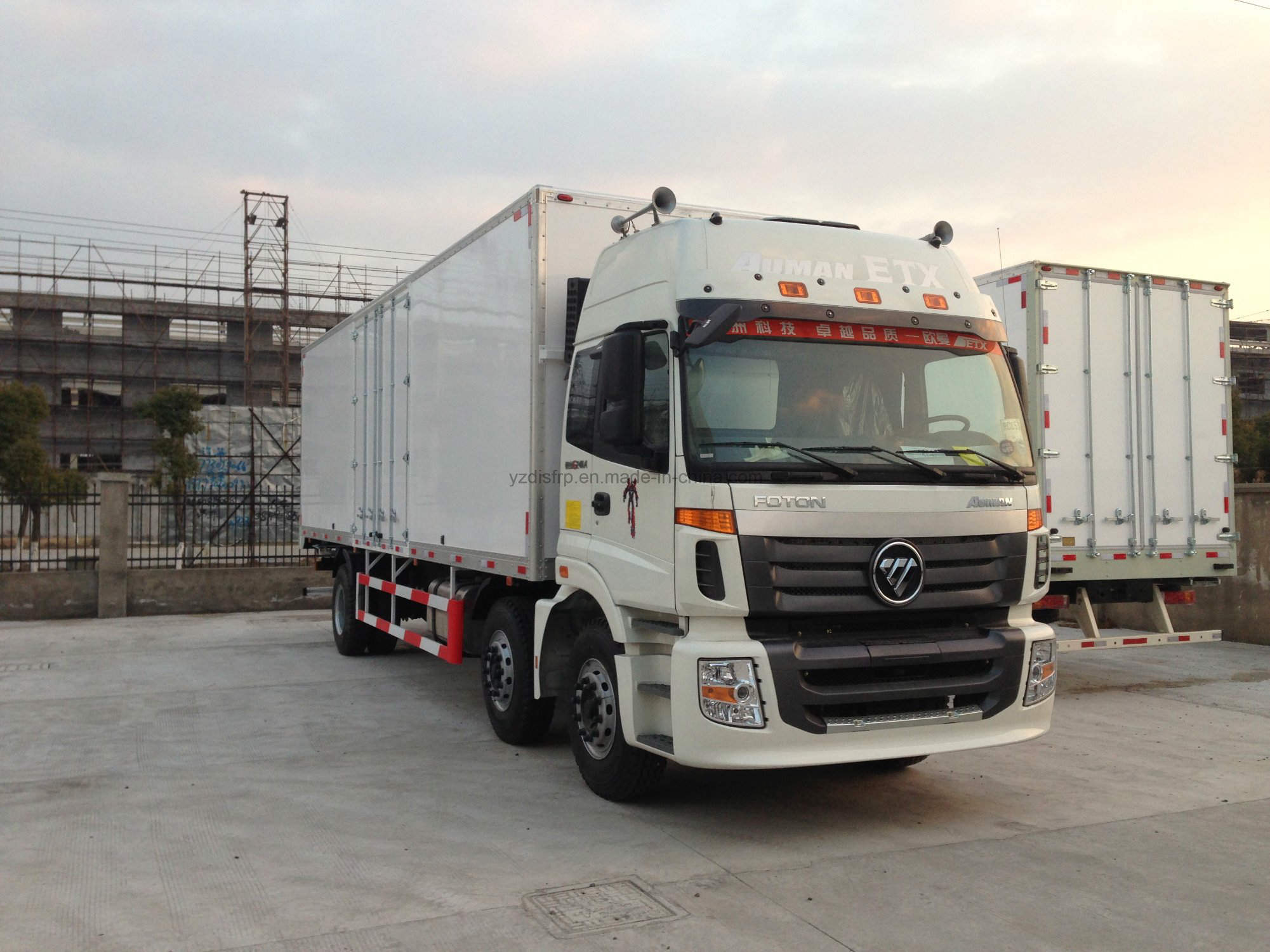 High Strength FRP Refrigerated Truck with PU Foam Cored Panel