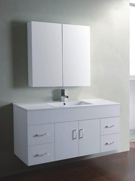 China 1200 Wall Mounted Mdf Bathroom Vanity Cabinet