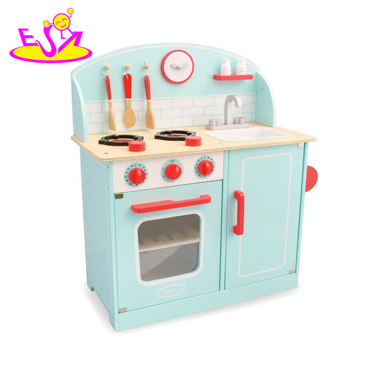 [Hot Item] New Hottest Wooden Kids Kitchen with Play Utensils W10c331