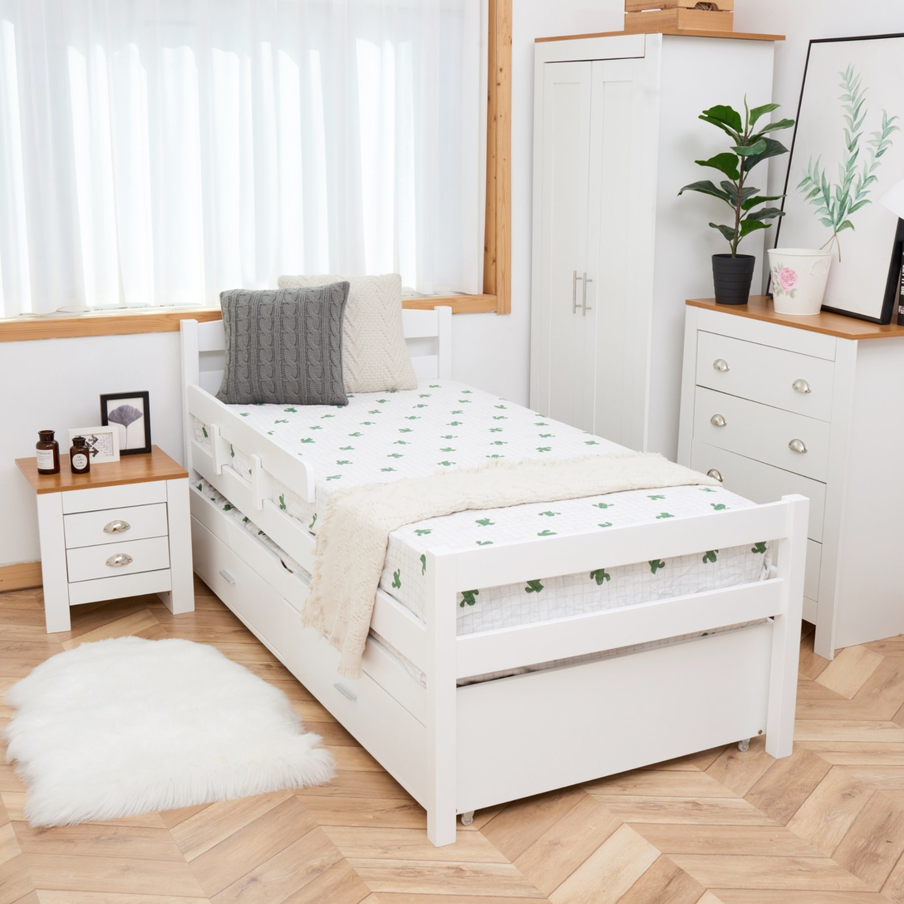 Picture of: China Low Price Kids Wooden Double Beds Single Twin Beds With Trundle For Children China Children Bed Kids Wooden Bed