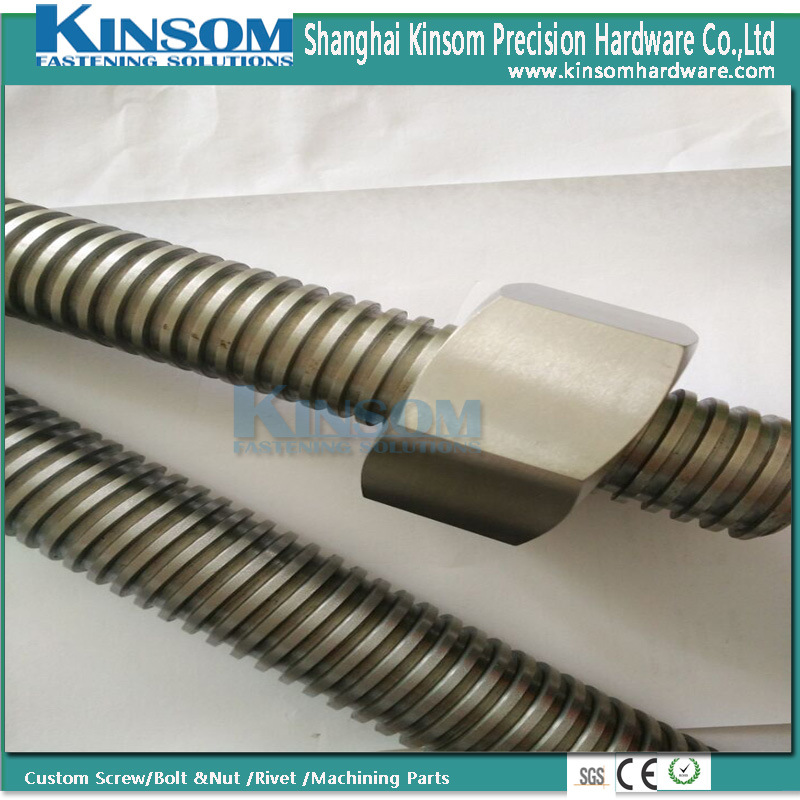 Assembly Bolt Hexagon Nut with Threaded Rod Bar Full Thread Customized M27*500 pictures & photos