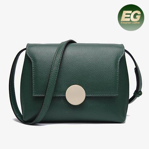 China Simple Design Lady Handbag Leisure Woman Hand Bag Genuine