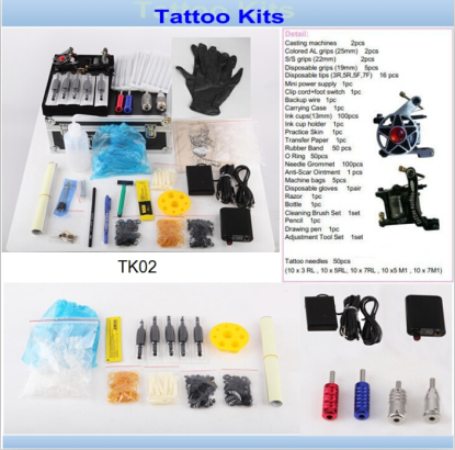 China Professoinal 2 Tattoo Machines Gun Tattoo Kits Sale for The ...