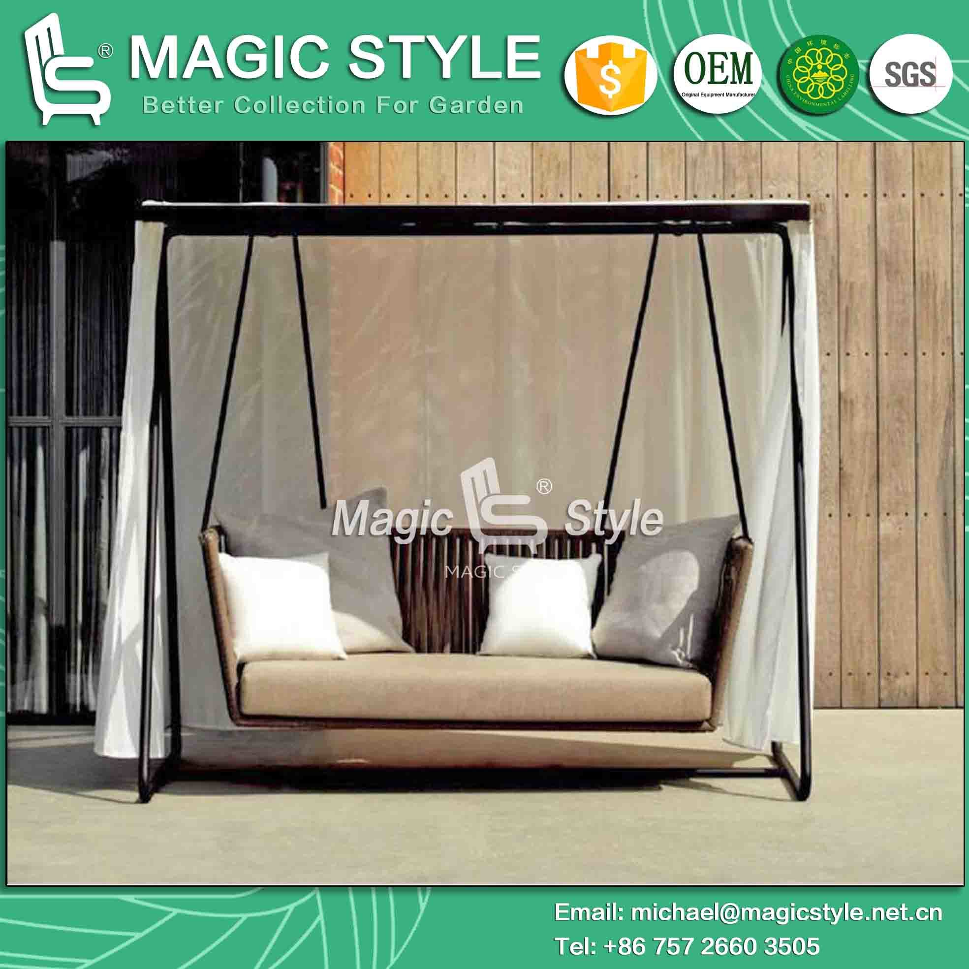 itm patio swing outdoor sentinel taupe metal hammock seater swinging chair westwood bench garden
