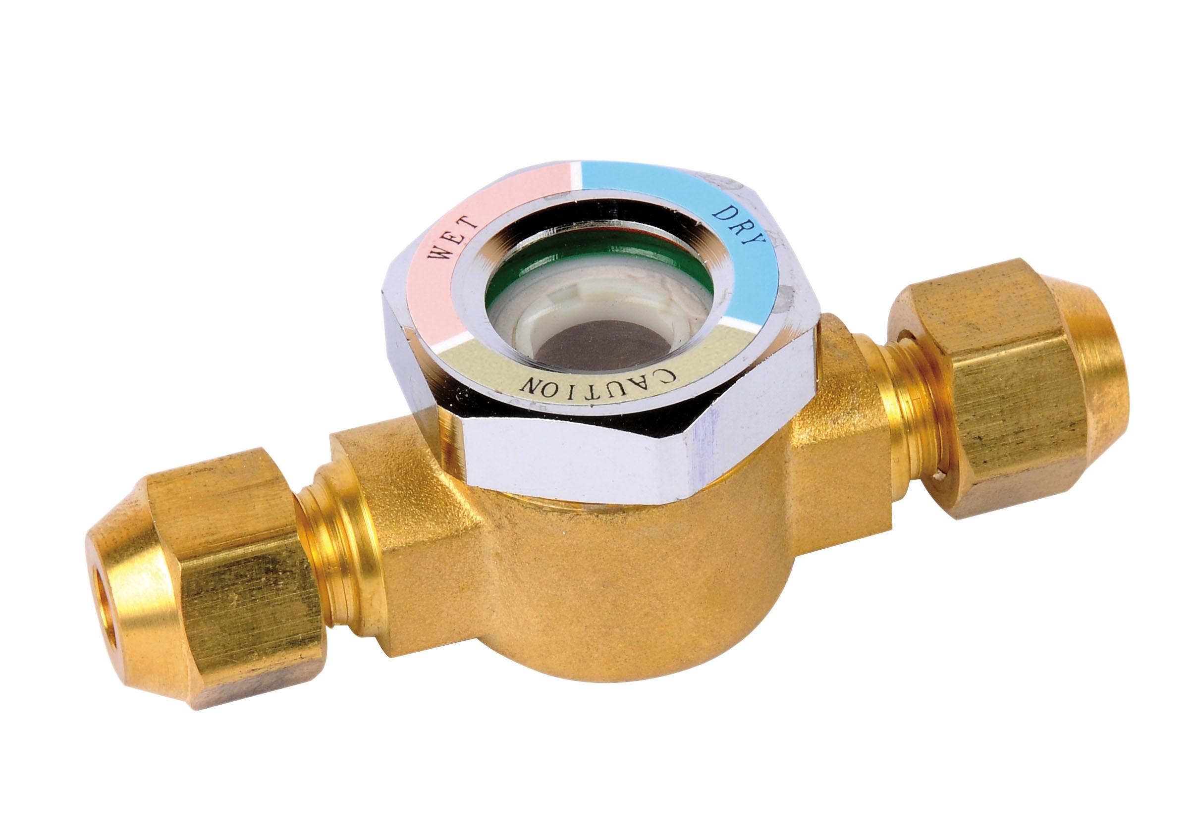 China brass refrigerant sight glass for refrigeration