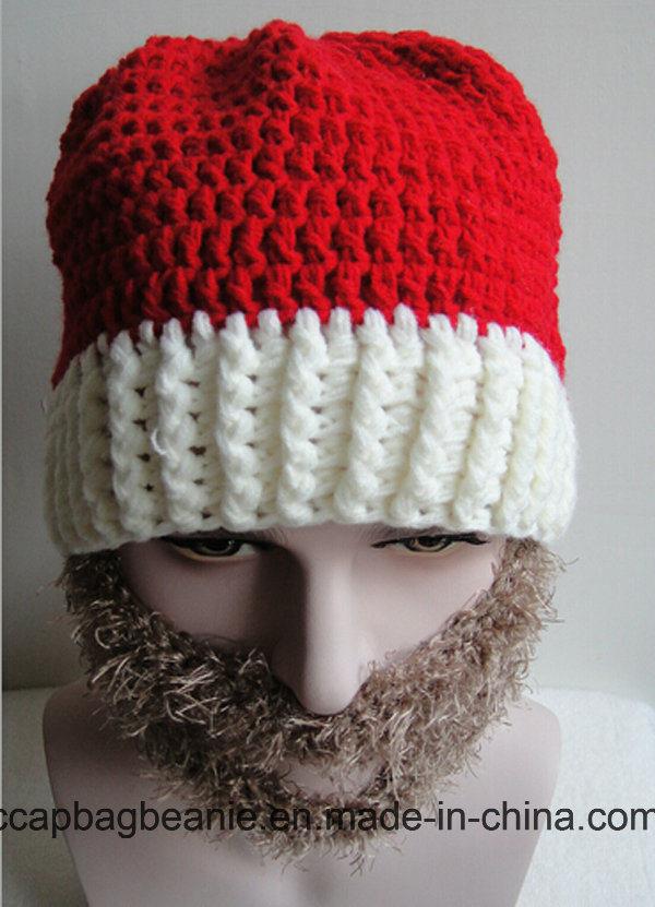 China Christmas Hat Knitting Beard Hat - China Snapback Hat, Flat ...