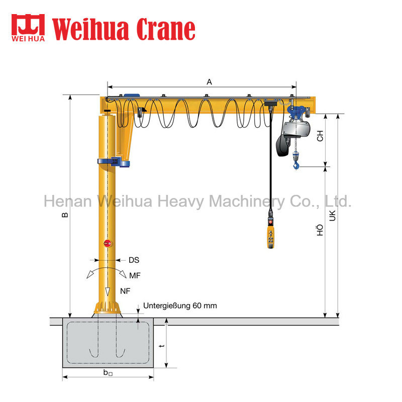 China Jib Crane Manufacturer Weihua Jib Crane Photos Pictures