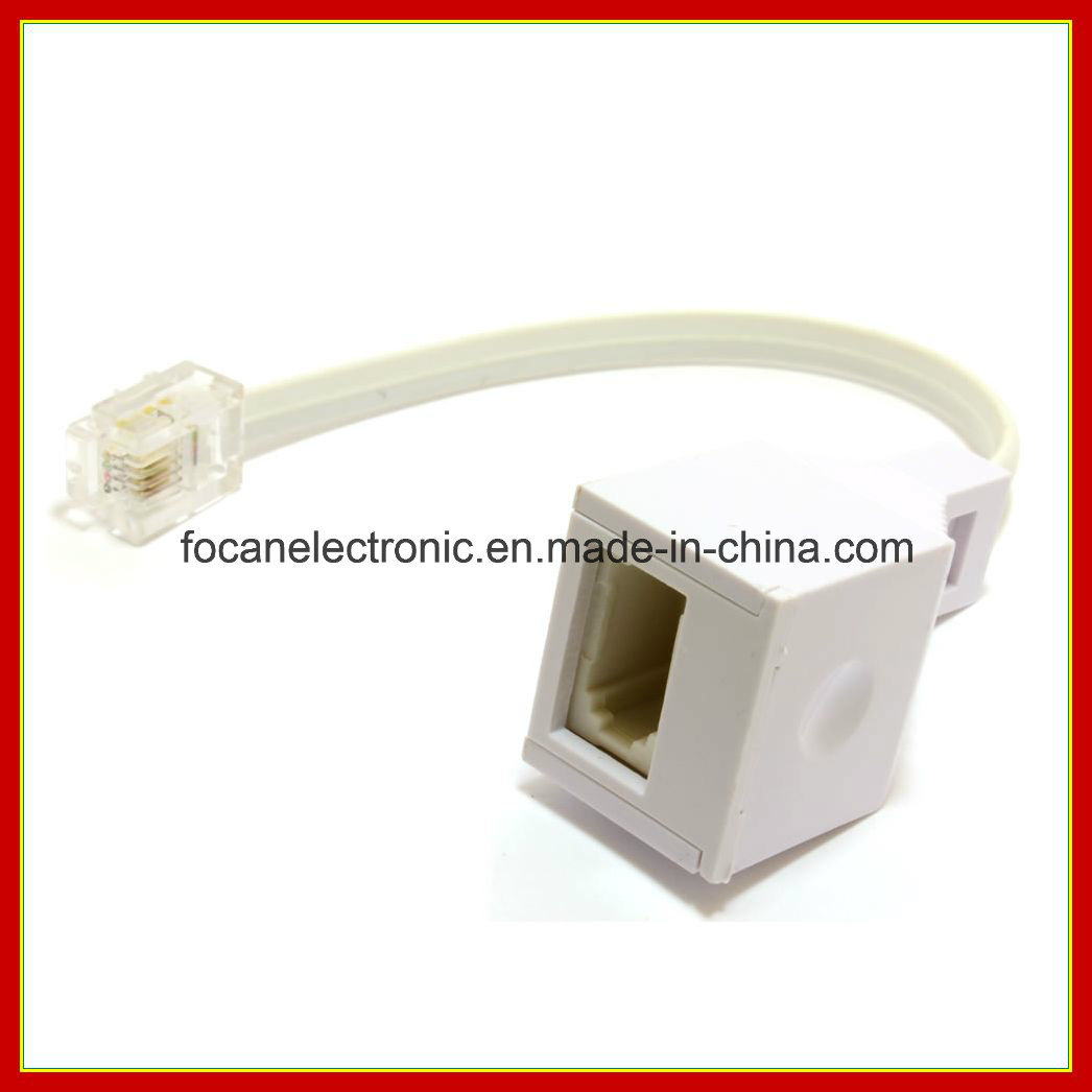 China Rj11 4 Wire To Bt Telephone Female Socket Us Uk Adapter Wiring 6p4c 10cm