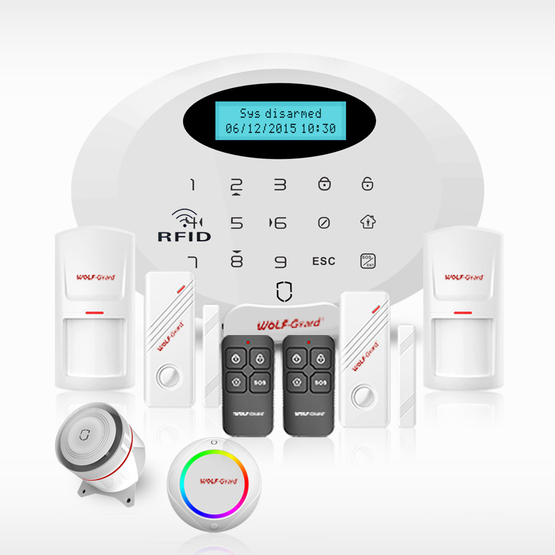 2016 New Security Alarm System WiFi / GPRS / GSM Smart Home Alarm with Android /Ios APP Control