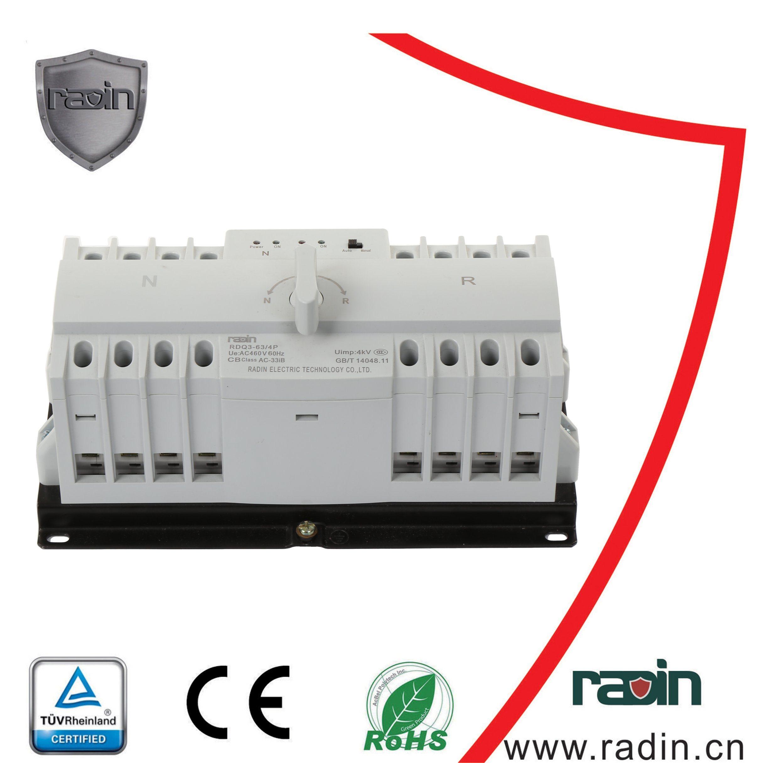 China 3 Pole, 4 Pole Automatic Change Over Switch Atse (ATS) Photos ...