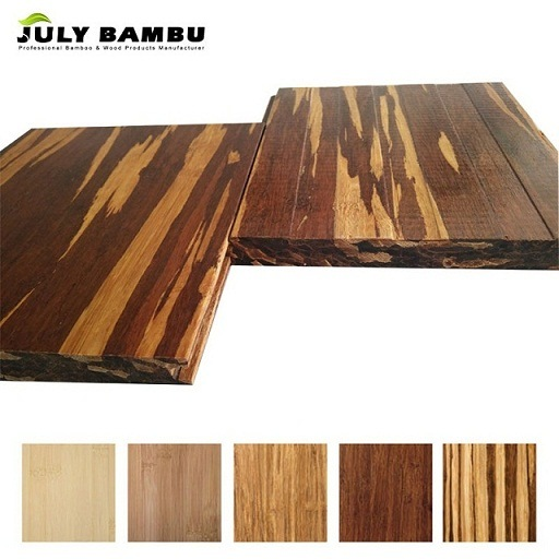 China Carbonized Bamboo Parquet Waterproof Click Lock Bamboo Floor