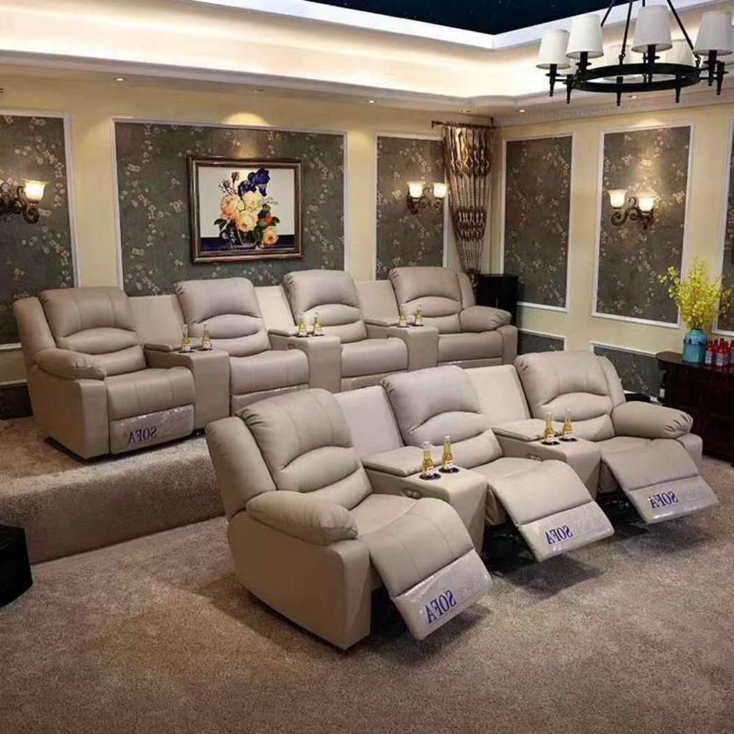 Factory Leather Recliner Sofa
