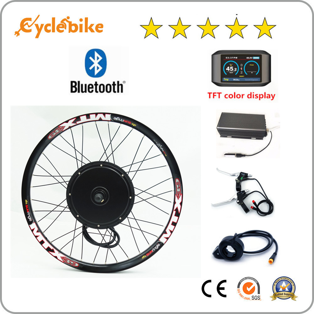[Hot Item] Bluetooth! 3000W E-Bike/Motorcycle Hub Motor Conversion Kit with  Programmable Controller