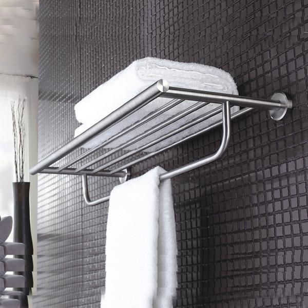China Wall Mounted Inox Stainless Steel Towel Shelf Bathroom