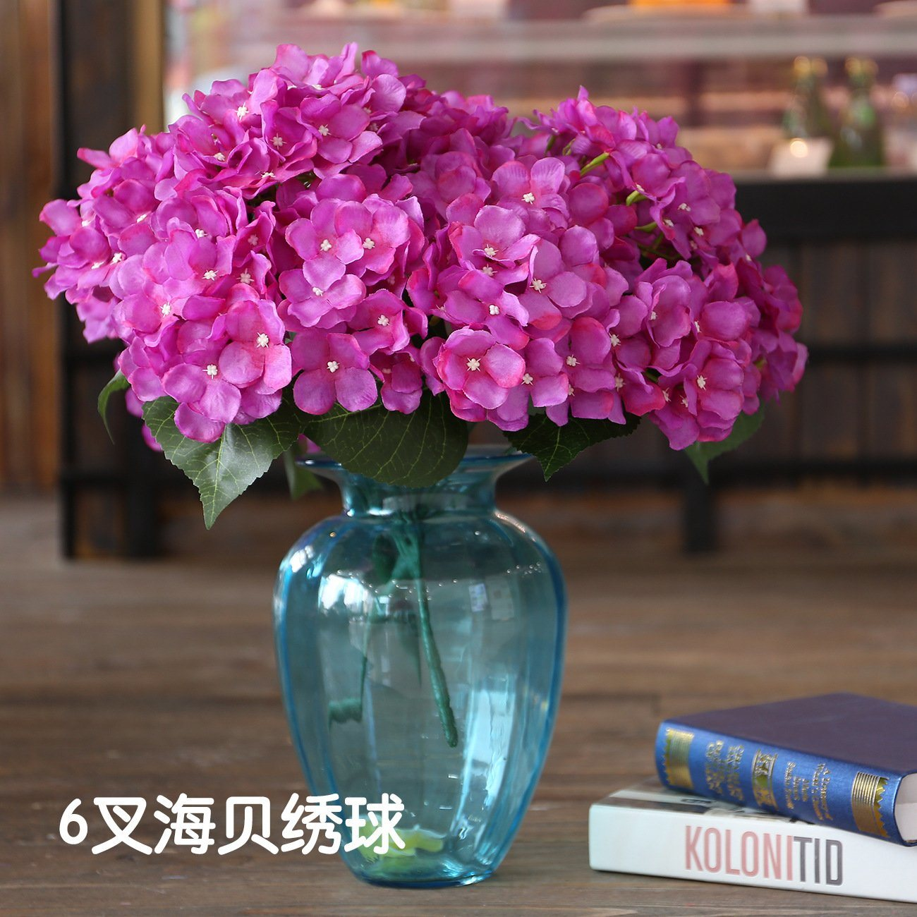 China 6 Head Bouquet Fake Wedding Artificial Hydrangea Flower Home Party Dried Decor New