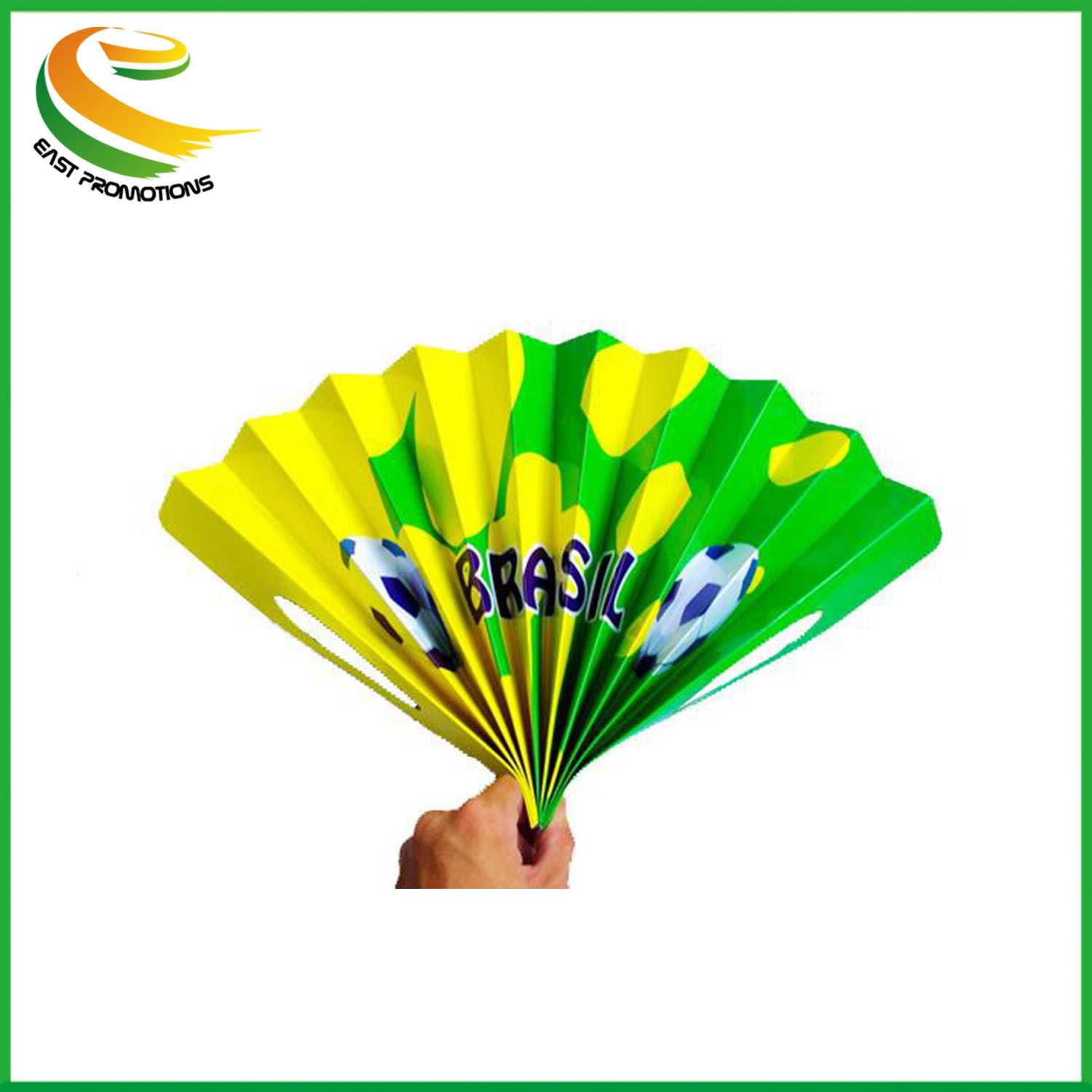 Folding Paper Hand Clapper Banner Fan with Custom Logo for Football World Cup pictures & photos