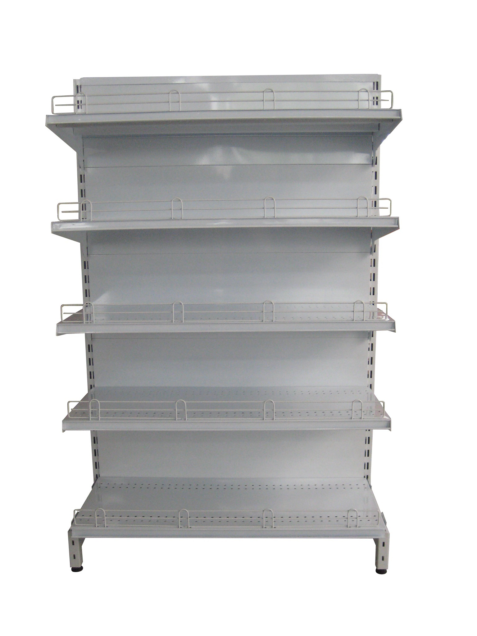 China Gondola Rack Double Sided Supermarket Display Shelving