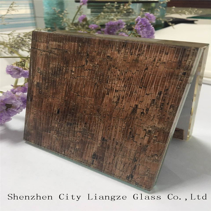 5mm+Silk+5mm Customized Art Glass/Sandwich Glass/Safety Glass/Tinted Laminated Glass for Decoration