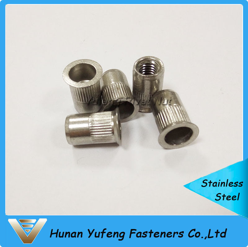 Stainless Steel Countersunk Knurled Body Rivet Nut