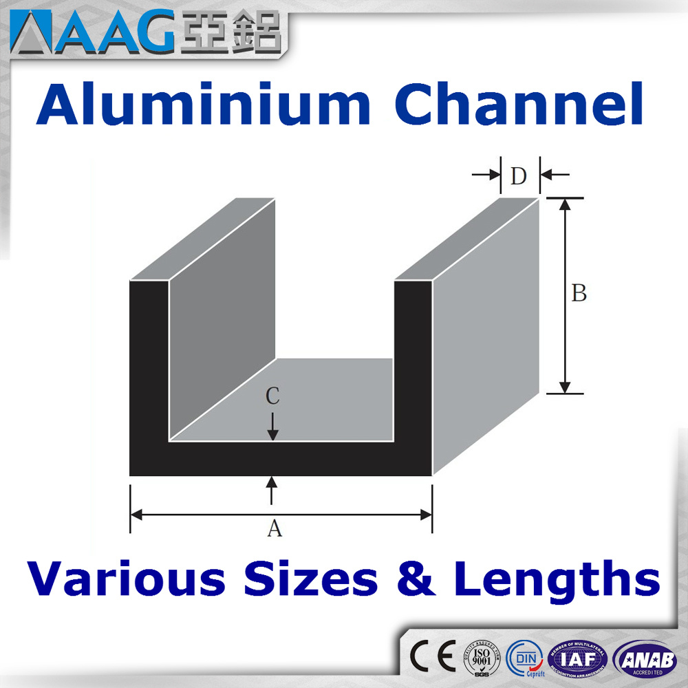 [Hot Item] Extruded Aluminum/Aluminium U and C Channel