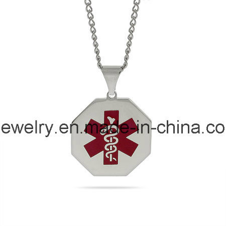 Medical Alert Pendant 316 Stainless Steel Surgical Jewelry