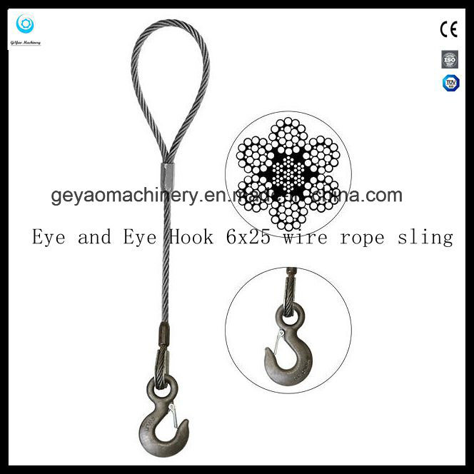 China Wire Rope Slings-Eye Sliding Choker with Thimble Photos ...