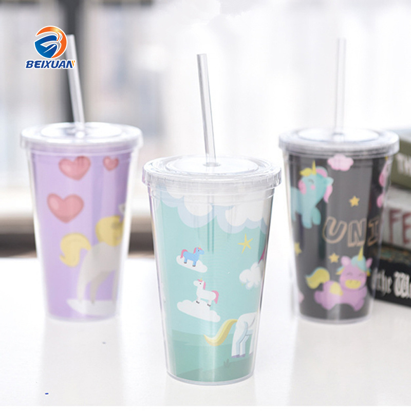 Reusable Plastic Double Wall Cup