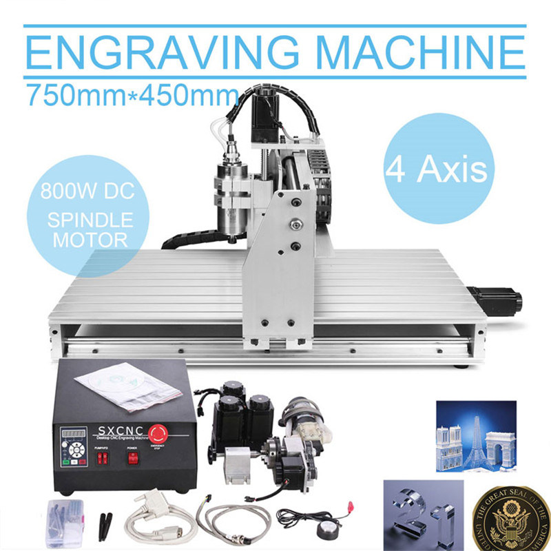 4axis CNC Router Engraver Machine Drilling/Milling pictures & photos