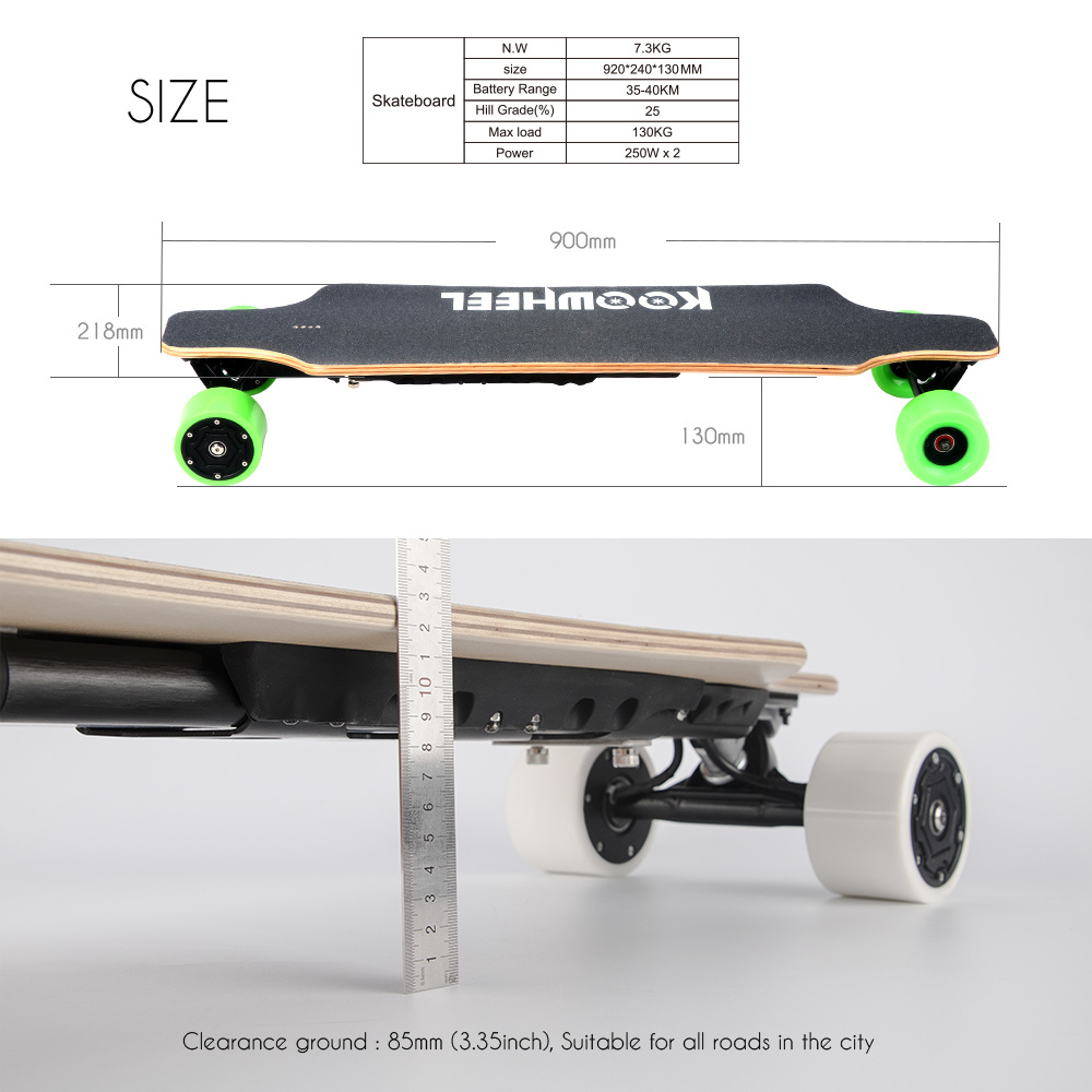 High Speed Koowheel Electric Skateboard (D3M) with Dual Hub Motors