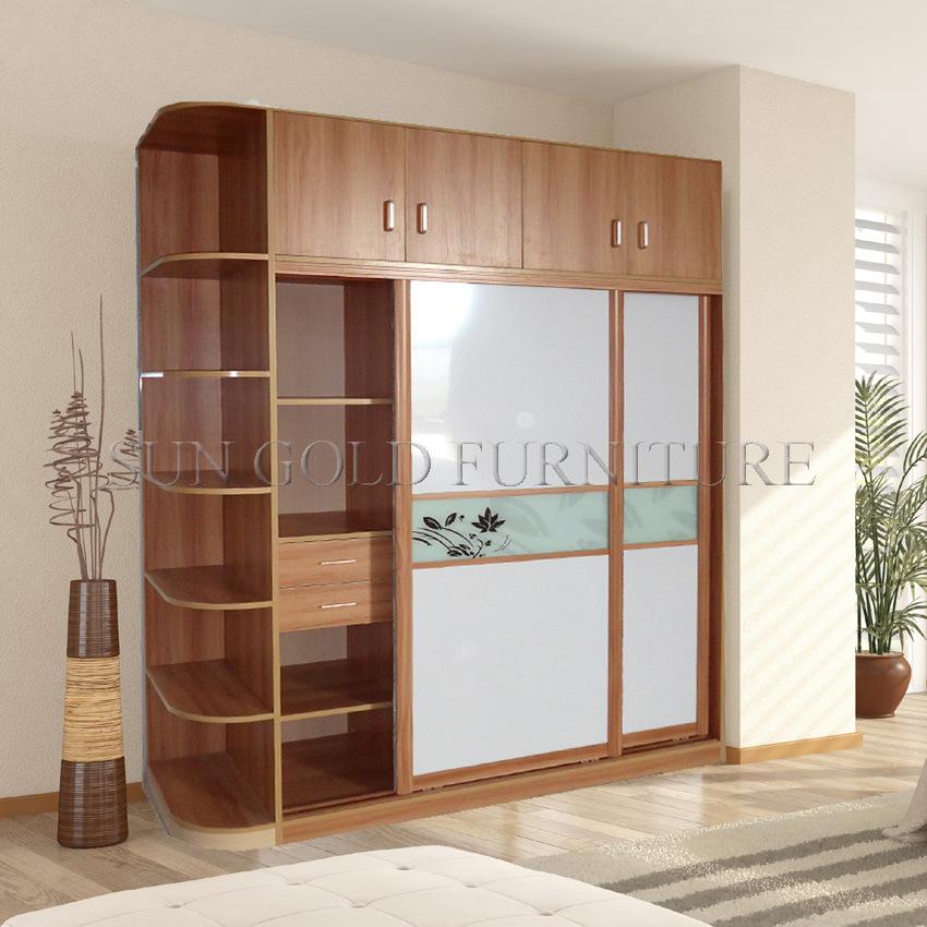 China Modern Sliding Door Wardrobe With Hang Cabinet Sz