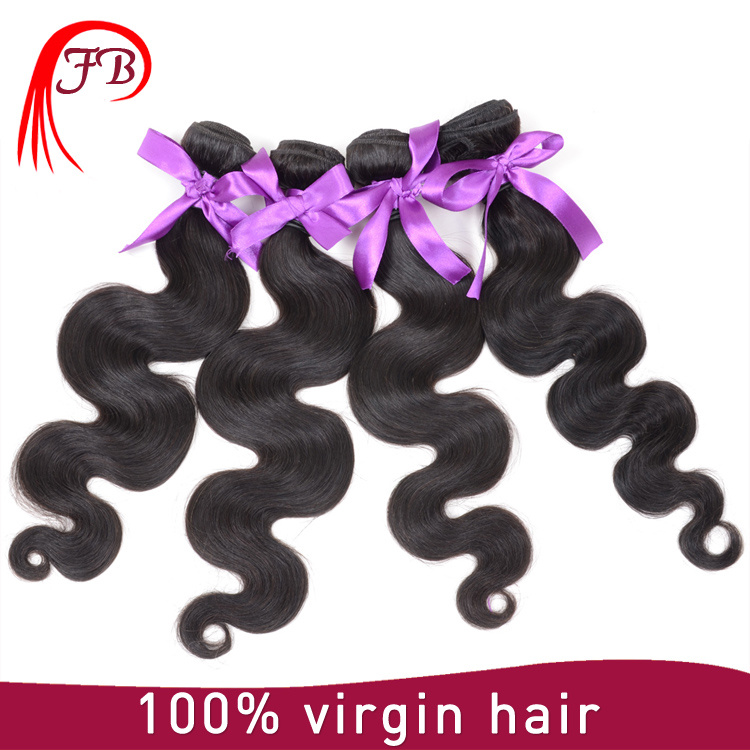 Brazilian Hair Virgin Human Hair Extensions Body Wave of All Lengths in Stock pictures & photos