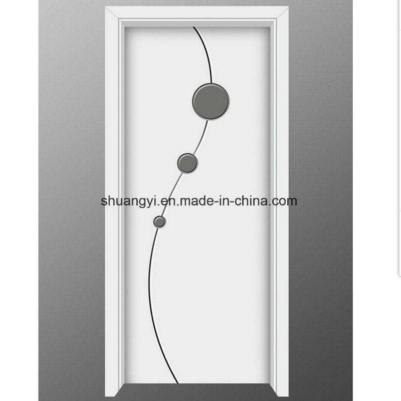 China Pvc Panel Mdf Interior Door With Decorative Glass Photos