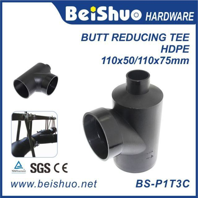 HDPE Pipe Fittings with Equal Tee