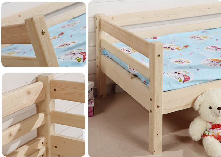Simple Style Children Single Wooden Bed Kids Bed (M-X1045)