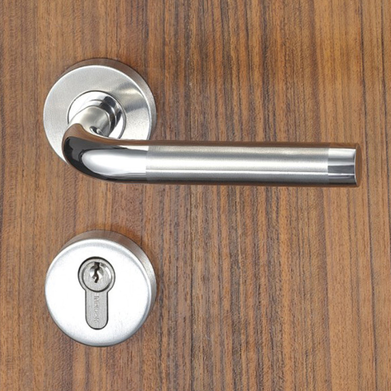 China Sus304 Mortise Door Rose Handle Lock For Entrance Interior