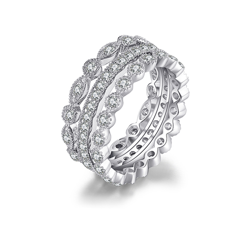 Sterling Silver Bracelet 299 925 Bracelet Black Zircon stone Rose Triple Round Model