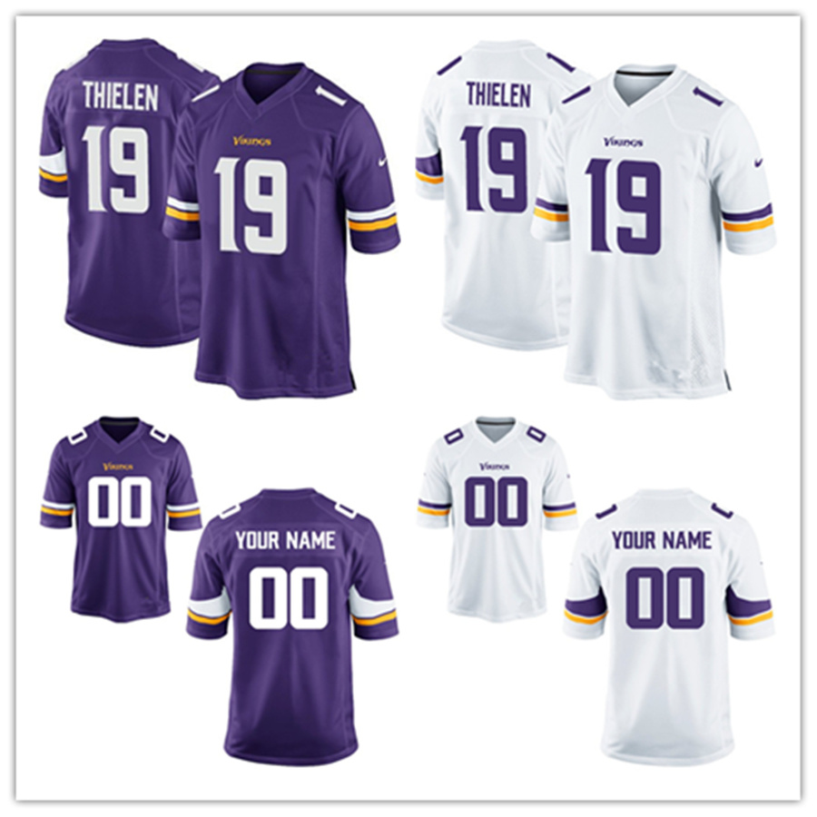 new products f707f d1620 [Hot Item] Custom Customized Vikings Jerseys 19 Adam Thielen Football  Jerseys
