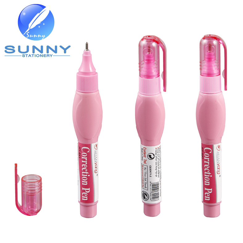 Correction Fluid Pen with Metal Tip for Shool Supplies