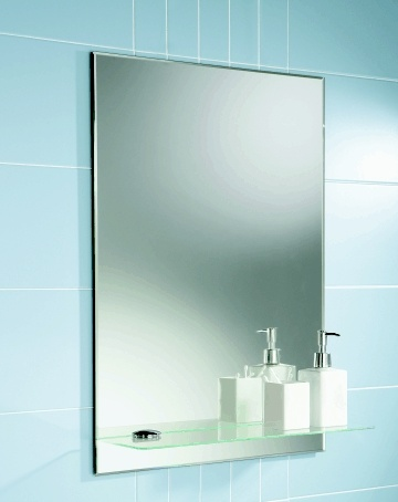 2mm 6mm Bathroom Mirror Made Of Silver Mirror Glass, Polished Belveled  Edge/ Custom Size And Shape Available (BSM 1601)