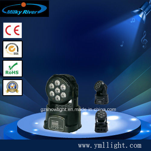 7*10W 4in1 LED Mini Wash Moving Head Light