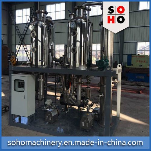 High Efficient Vacuum Raising Film Single Stage Evaporator