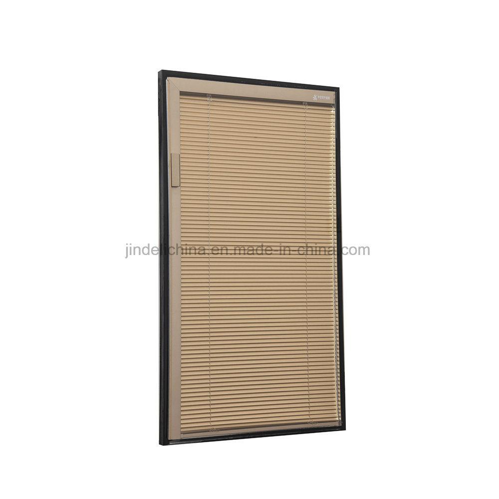 China Insulated Window Door Glass With Venetian Blinds Inside